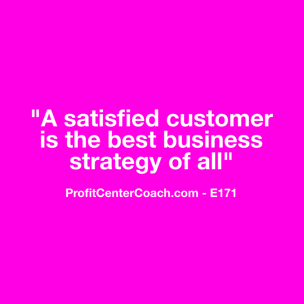 "E171 - Social Square 12"" x 12"" Inspirational Canvas Wall Hanging - ""A satisfied customer is the best business strategy of all"""