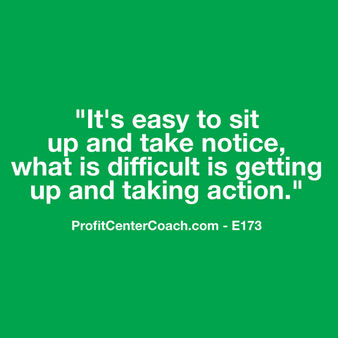"E173 - Social Square 12"" x 12"" Inspirational Canvas Wall Hanging - ""It's easy to sit up and take notice, what is difficult is getting up and taking action."""