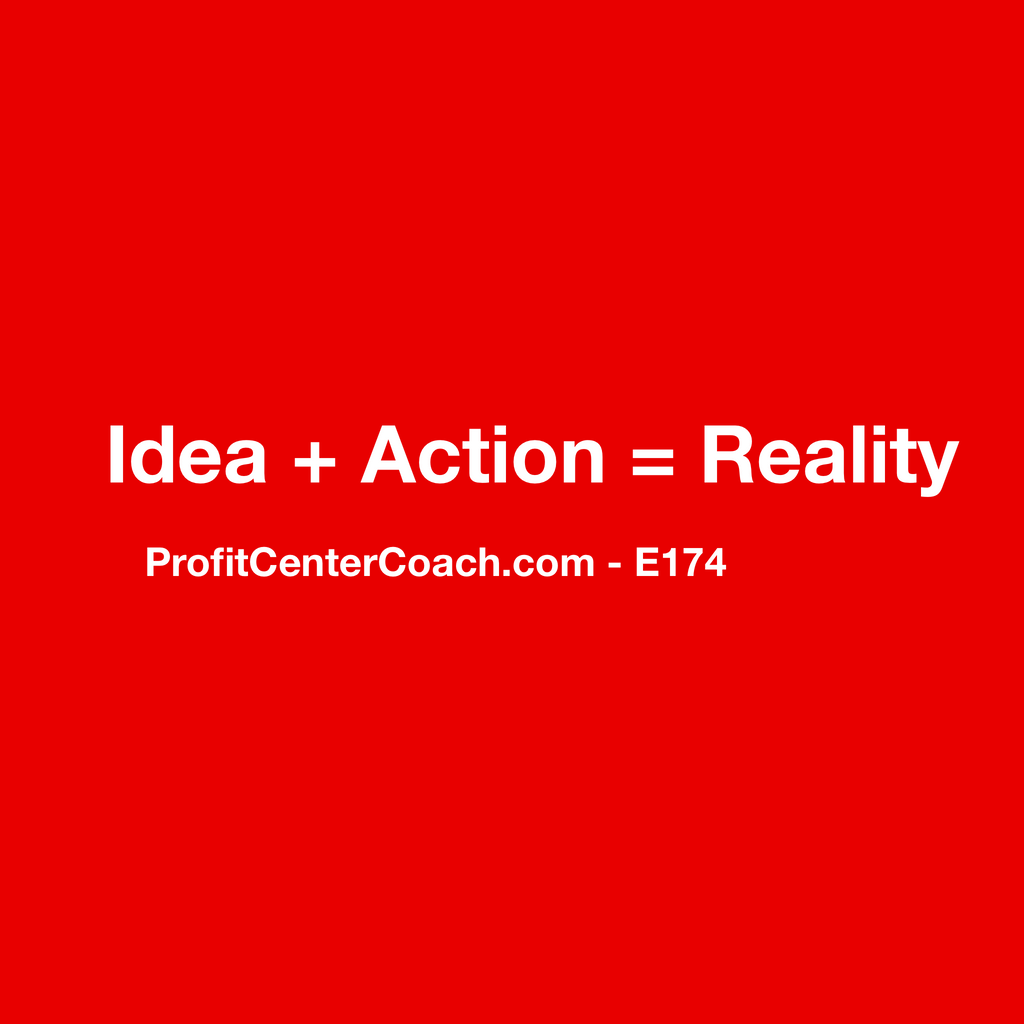 "E174 - Social Square 12"" x 12"" Inspirational Canvas Wall Hanging - ""Ideas plus action equals reality."""