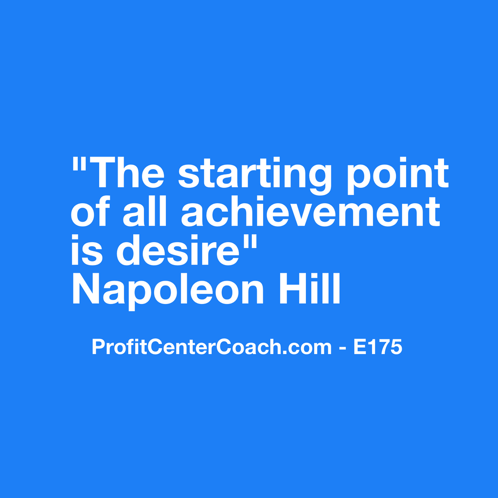 "E175 - Social Square 12"" x 12"" Inspirational Canvas Wall Hanging -""The starting point of all achievement is desire."" Napoleon Hill"