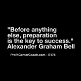 "E176 - Social Square 12"" x 12"" Inspirational Canvas Wall Hanging - ""Before anything else, preparation is the key to success."" Alexander Graham Bell"