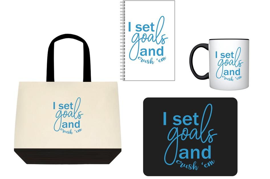 I Set Goals and Crush Em Bundle Pack for Desk - The Entrepreneur In Me Says - Motivational and Inspirational Gift