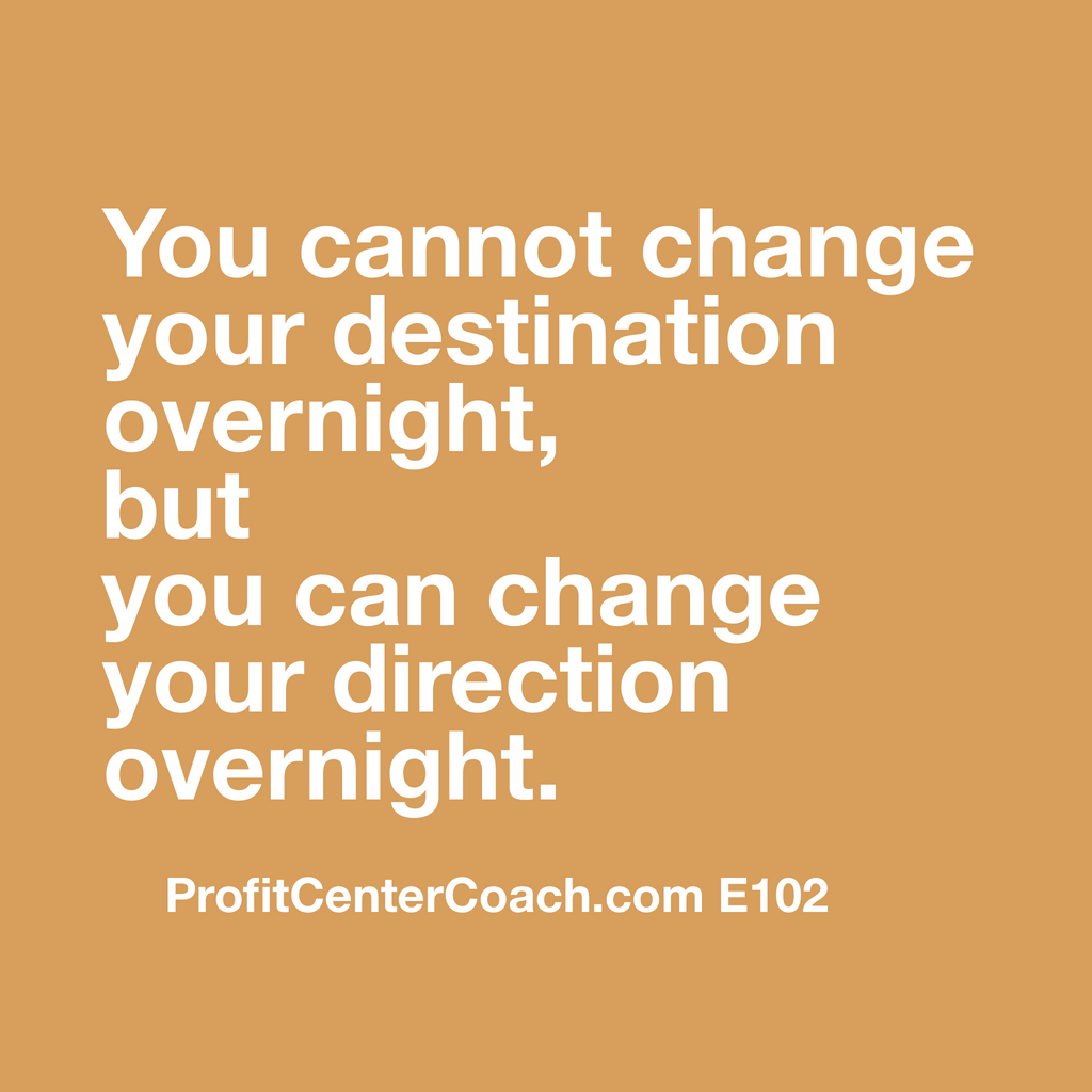 "E102 - Social Square 12"" x 12"" Inspirational Canvas Wall Hanging - ""You cannot change your destination overnight, but you can change your direction overnight"""