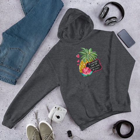 Infinitypreneur Seven Day Reboot Pineapple - Unisex Hoodie - Stand Tall Wear a Crown Be Sweet