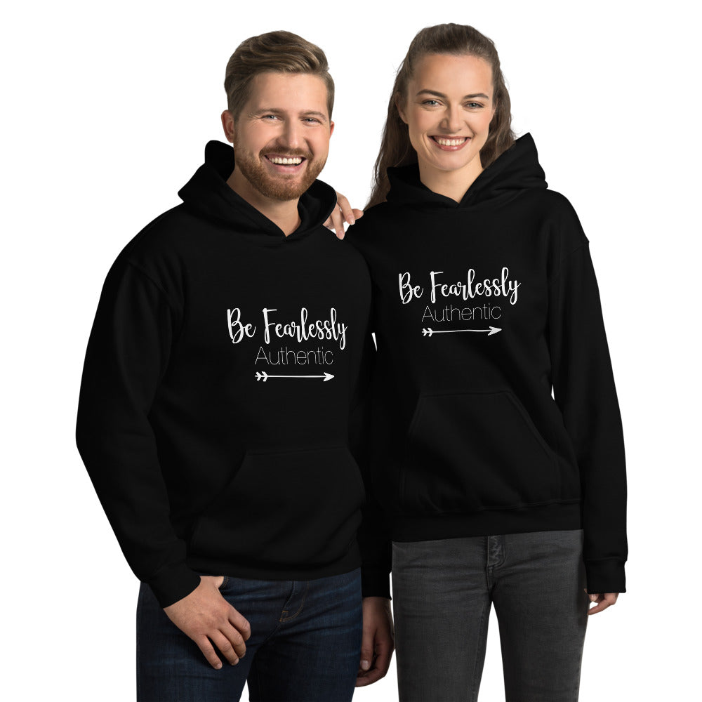 Fearlessly Authentic - Unisex Hoodie Sweatshirt - Entrepreneur Gift and Small Business Owner Motivation Tips