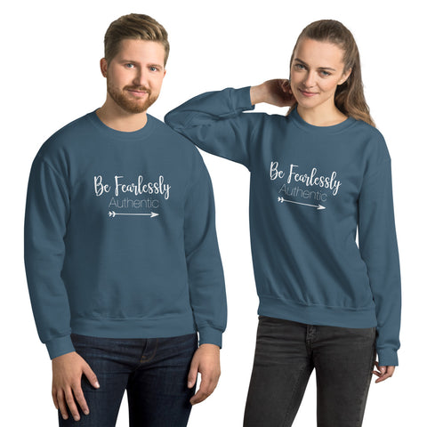 Fearlessly Authentic - Unisex Sweatshirt - Entrepreneur Gift and Small Business Owner Motivation Tips