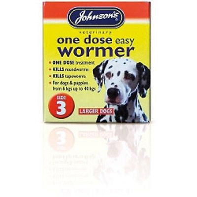 Johnsons Vet One Dose Easy Wormer Size 3 4 x 500mg Tablets