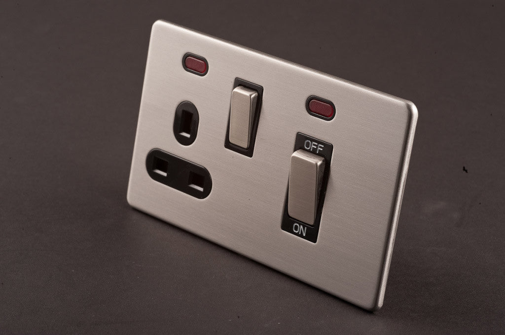 45A Cooker Control Unit with 13A Switched Socket and Neon