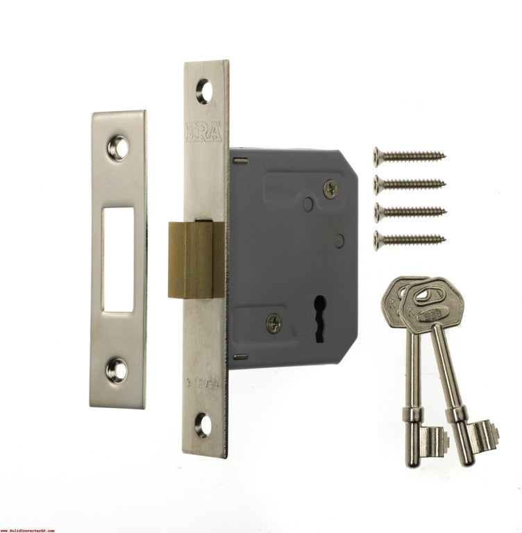 "3 Lever Deadlock 3"" Chrome Effect"