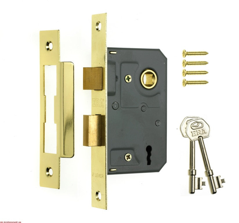 "3 Lever Sashlock 3"" Brass Effect"