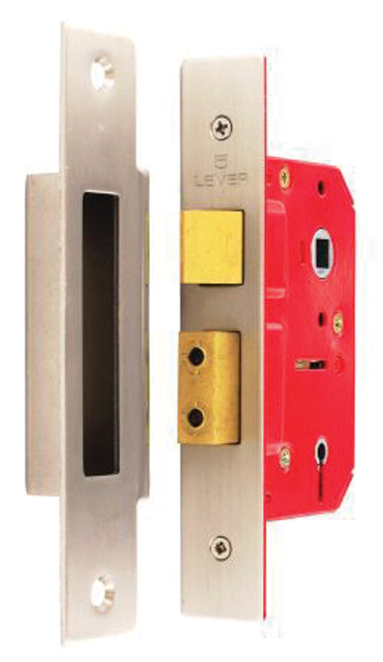 5 Lever Sash Lock Nickel Plated