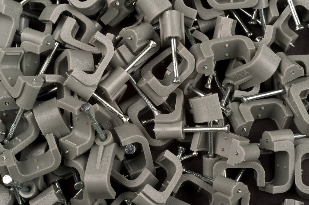 Dencon 14mm Grey Flat Cable Clips
