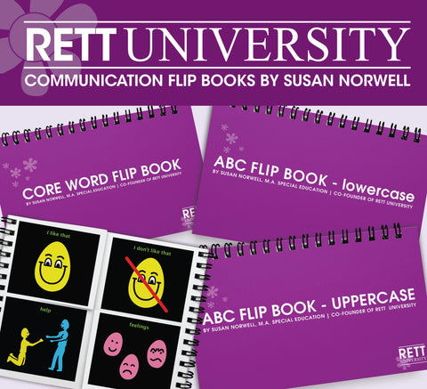 Rett U Communication Flip Books by Susan Norwell