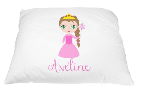personalized kid s princess pillowcase microfiber polyester 20 by 30
