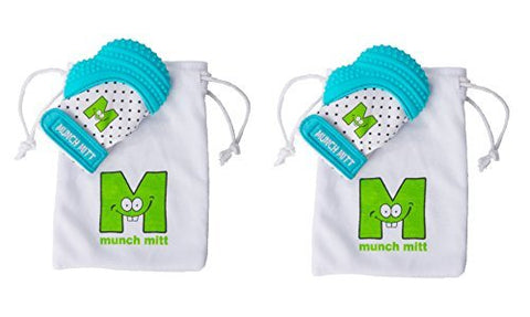 Munch Mitt® Teething Toy Stays on Baby's Hand