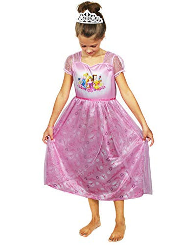 Disney Princess Girls Fantasy Nightgown Pajamas (10, Princess Pink)