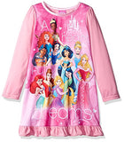 Disney Princess Girls Long Sleeve Nightgown Pajamas (4, Princess Pink)