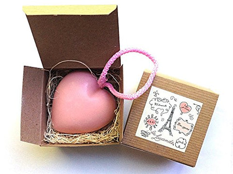 "Heart Shaped Soap-on-a-Rope - ""Tea Rose"""