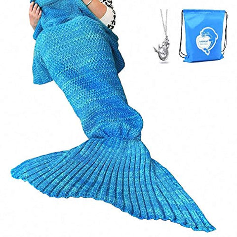 LAGHCAT Tail Crochet Mermaid Blanket