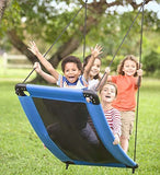 SkyCurve Hanging Platform Rope Tree Swing for Multiple Children