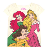 Disney Princess T-Shirts for Girls - 3 Pack Short Sleeve Graphic Tees 3T Grey