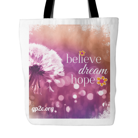 Tote bag- Believe Dream Hope
