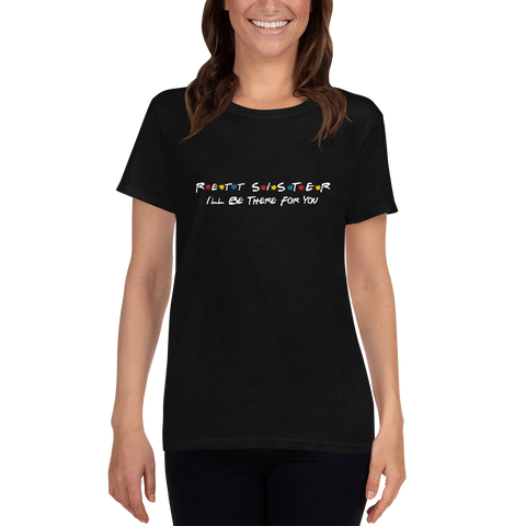 Women's T-shirt- RETT SISTER- Black