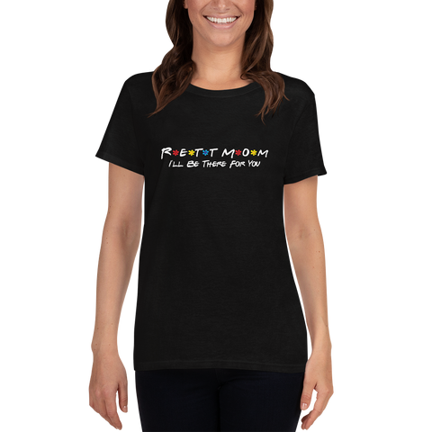Women's T-shirt- RETT MOM- Black