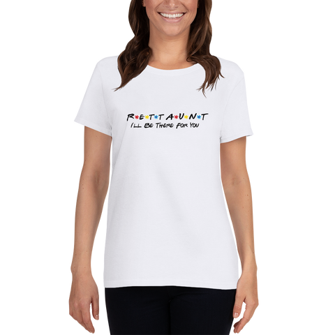 Women's T-shirt- RETT AUNT- White