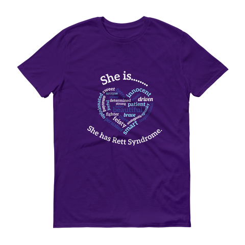 Kourtney Barnum T-Shirt- She has Rett Syndrome.