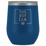 12oz. Stemless Tumbler- This Boy Can