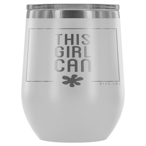 12oz. Stemless Tumbler- This Girl Can