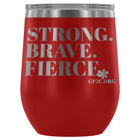 12oz. Stemless Tumbler- Strong, Brave, Fierce