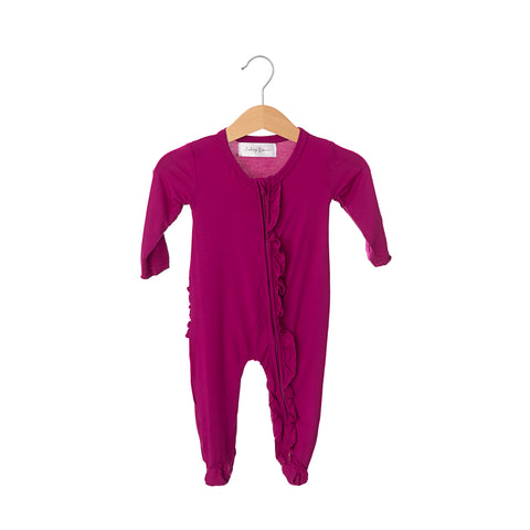 Winterberry Bamboo Ruffled Zippered One-Piece