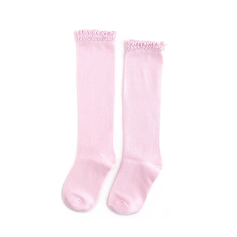 Cotton Candy Lace Top Knee High Socks