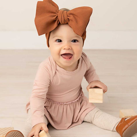 Dusty Pink Long Sleeve Skirted Bamboo Bodysuit