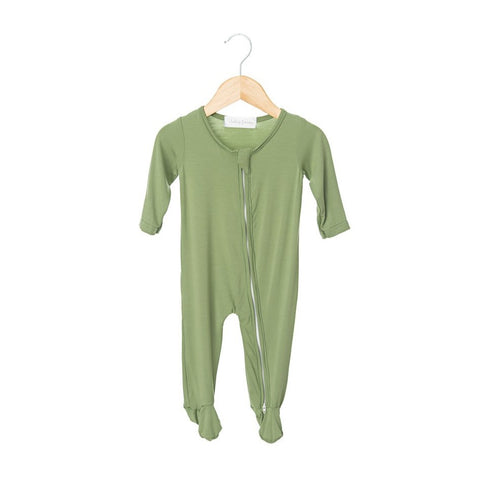 Avocado Zippered One Piece Footie- Boy