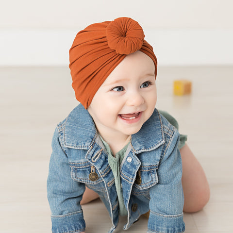 Turban Hat With Round Knot