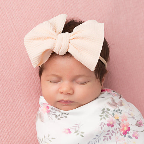 Skinny Nylon Emma Bow Headband.
