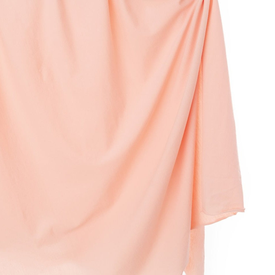 Peach Knit Swaddle Blanket