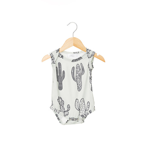 Grey Cactus Sleeveless Bodysuit
