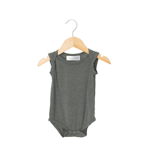 Heather Steel Sleeveless Bodysuit