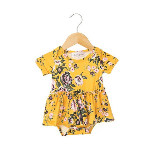 Nora Short Sleeve Skirted Bodysuit