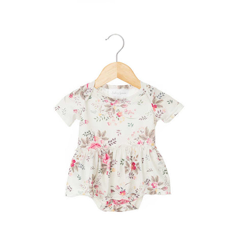 Aria Short Sleeve Skirted Bodysuit