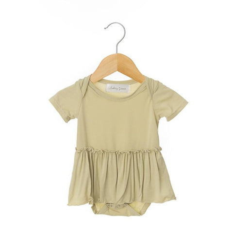 Oat Short Sleeve Skirted Bodysuit