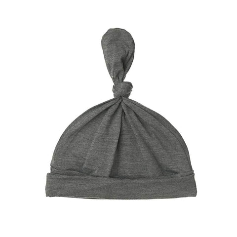 Heather Steel Top Knot Hat