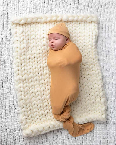Honey Bamboo Swaddle Blanket