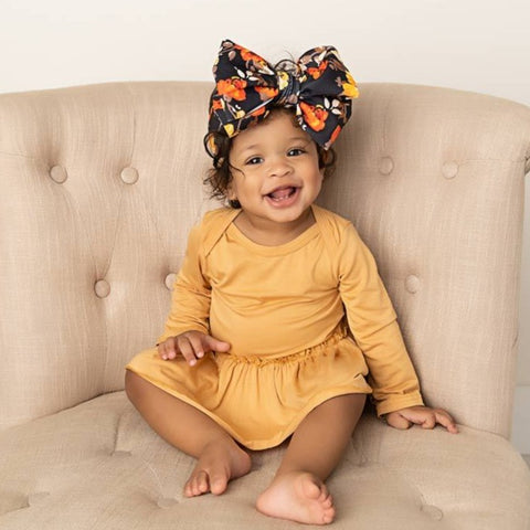 Honey Long Sleeve Skirted Bamboo Bodysuit