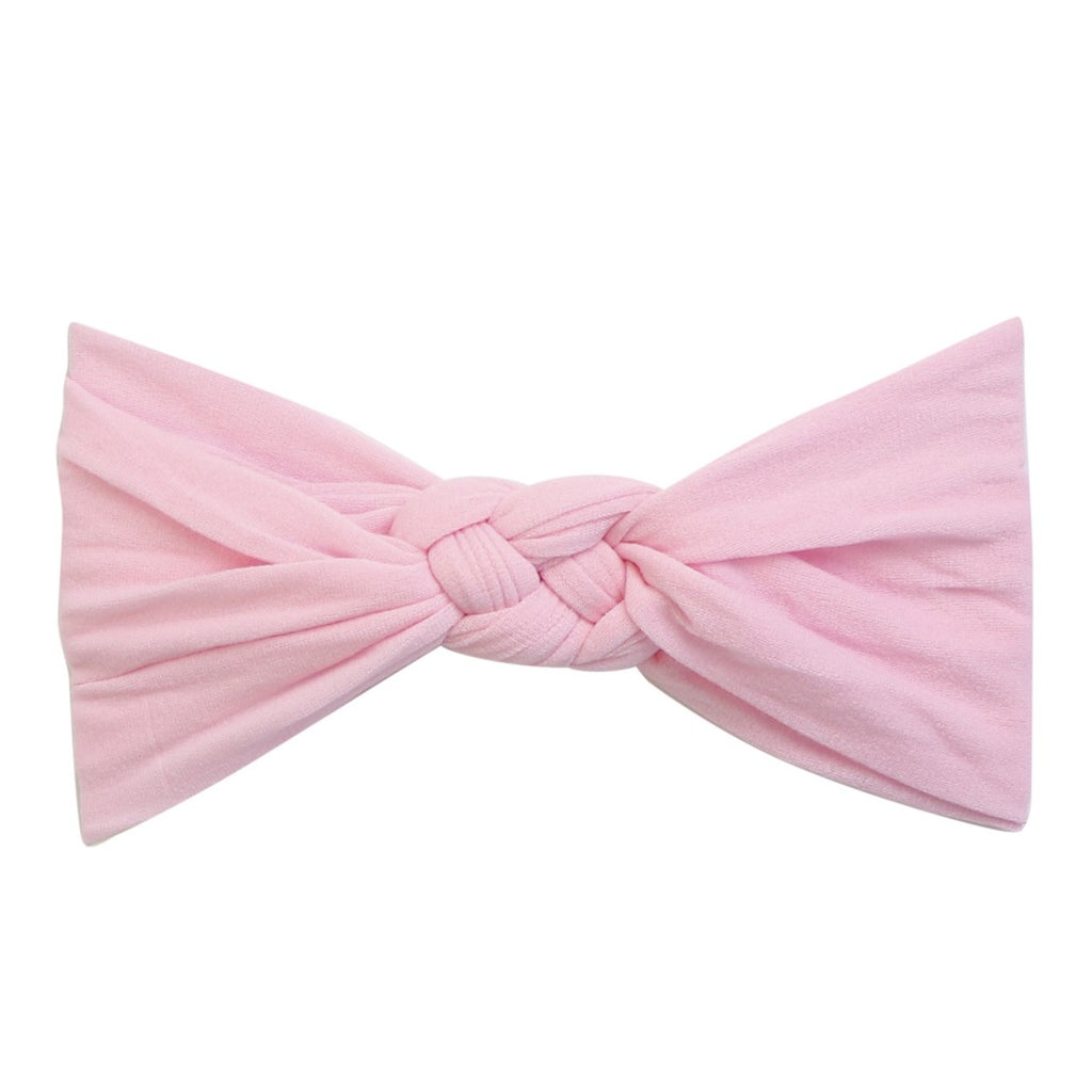Sailor Knot Nylon Headband- Pearl Pink