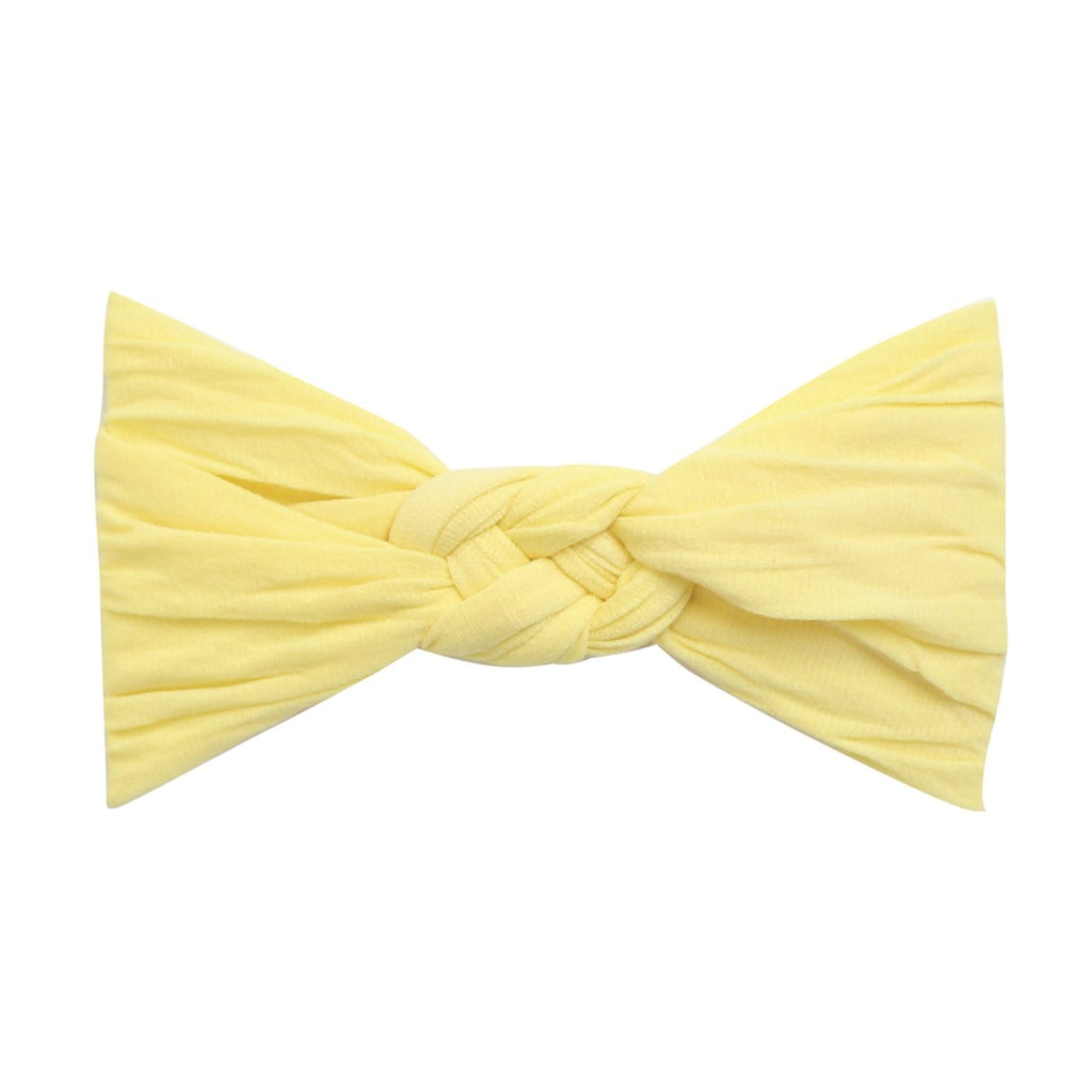 Sailor Knot Nylon Headband- Light Yellow